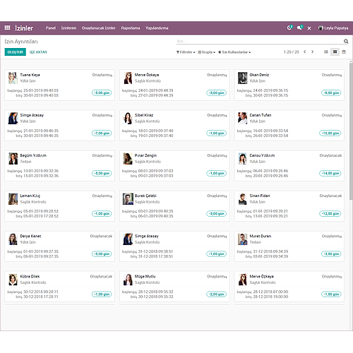 Odoo HR Leaves